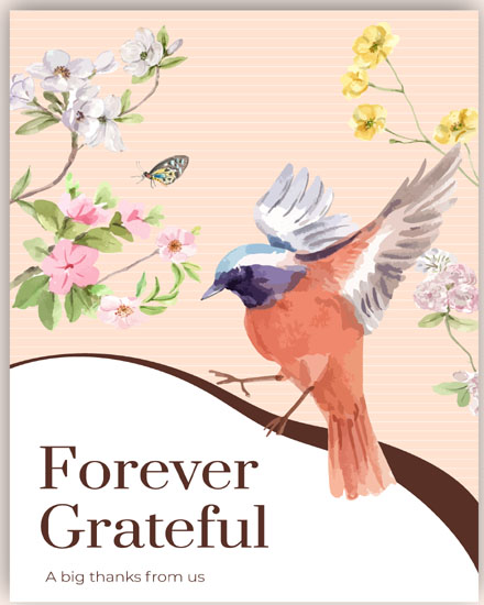 create free Spring Bird group card