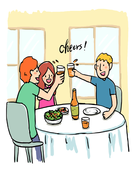 create free Friends toasting group card