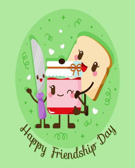 create free Cartoon Food group card