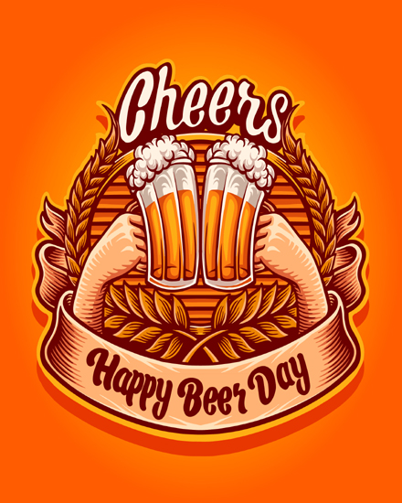 create free Happy beer  day group card