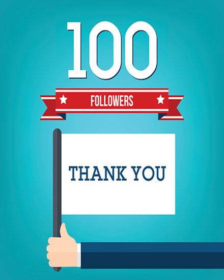 create free 100 Followers group card