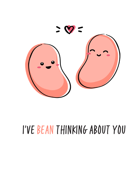 create free Bean  character group card