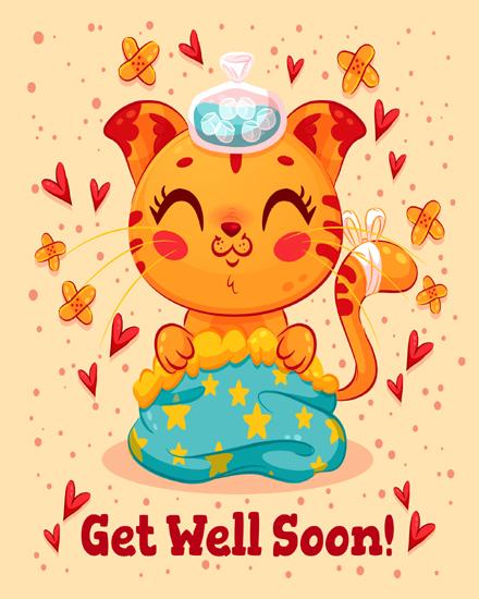 create free Kitty  Heart group card