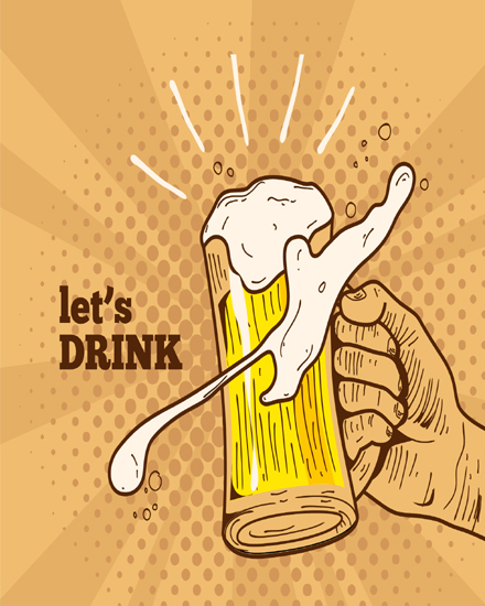 create free Let's Drink group card
