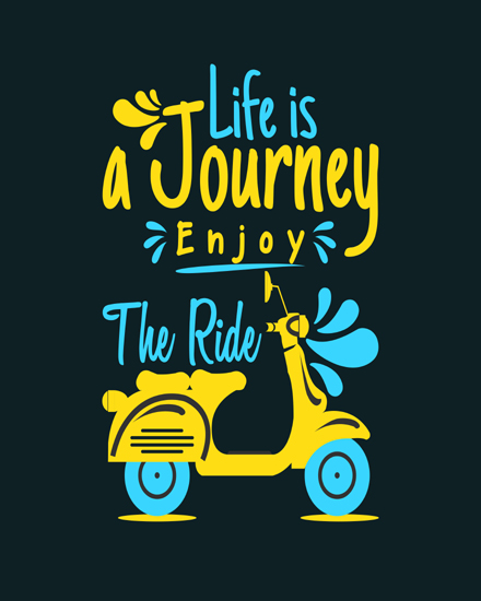 create free Life is journey group card