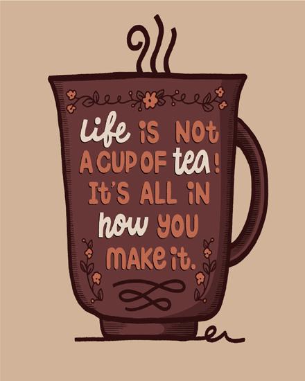 create free Life tea quote group card