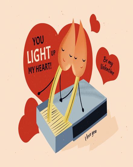 create free Light up heart group card