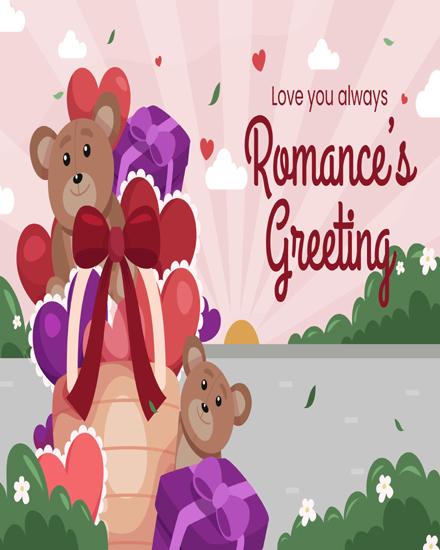 create free Teddy heart group card