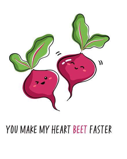 create free Cute beetroot group card