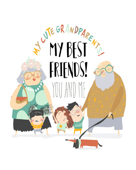create free Grand Parents group card