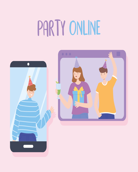 create free Online party group card