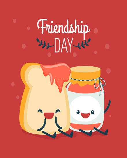 create free Red friendship  group card