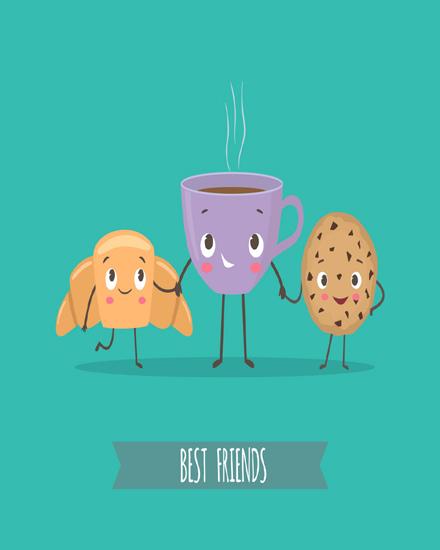 create free Coffee & Cookies group card