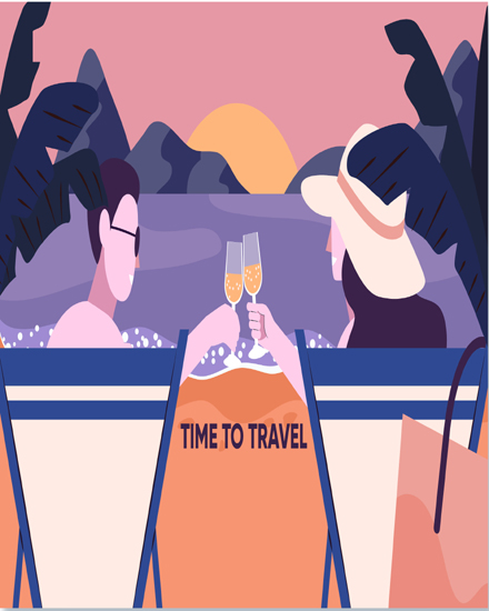 create free Time to  travel group card