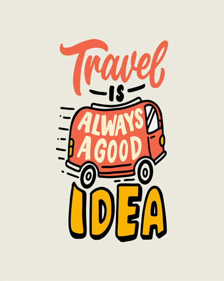 create free Travelling quote group card