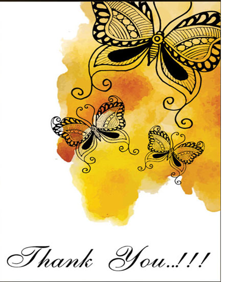 create free Yellow Butterfly group card