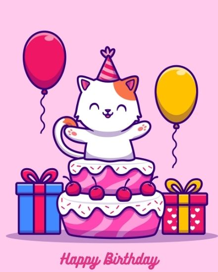create free Pink Cat group card