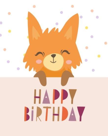 create free Cute Fox group card