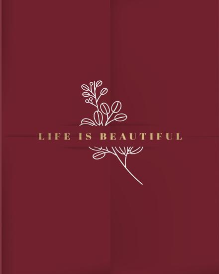 create free Life is beautiful group card