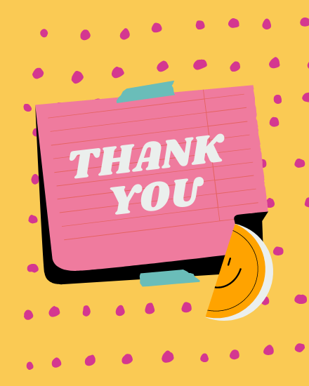 create free Thank You Smile group card