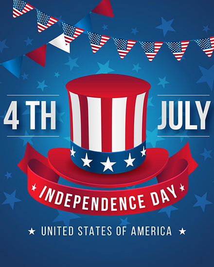 create free 4th July Holiday group card