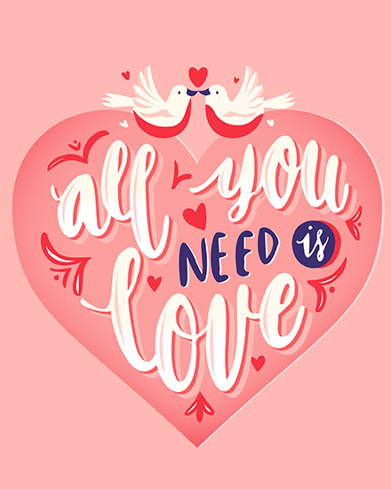 create free  Need is Love group card