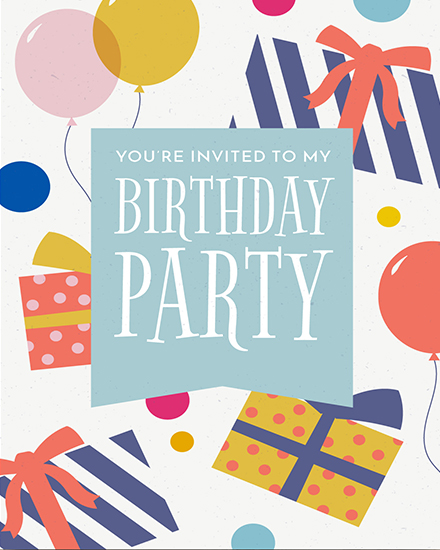 create free Birthday Party group card