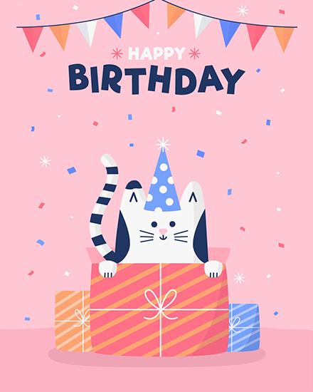 create free Belated Birthday group card