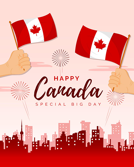 create free Canada Day group card