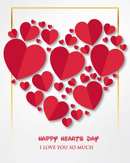 create free Hearts Day group card