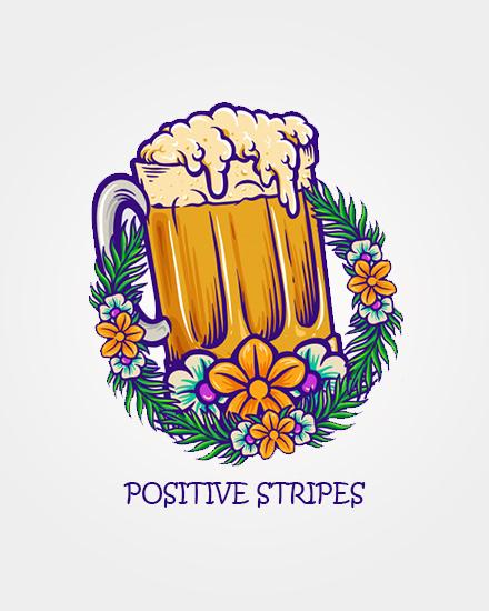 create free Positive Stripes group card