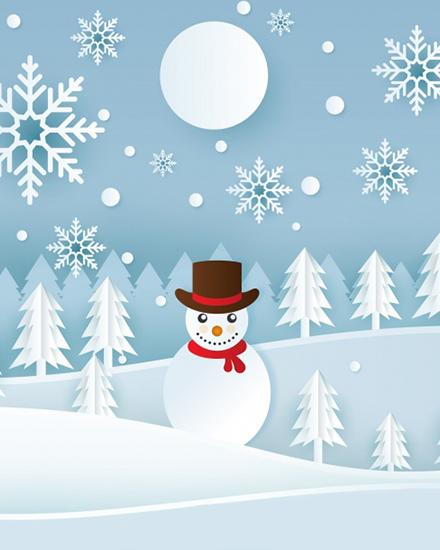 create free Snow Flake Holiday group card