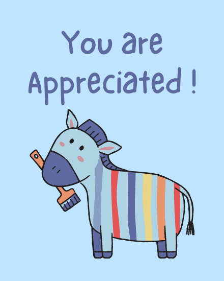 create free You are Appreciated group card
