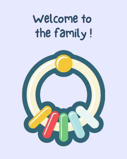 create free Welcome to Family group card