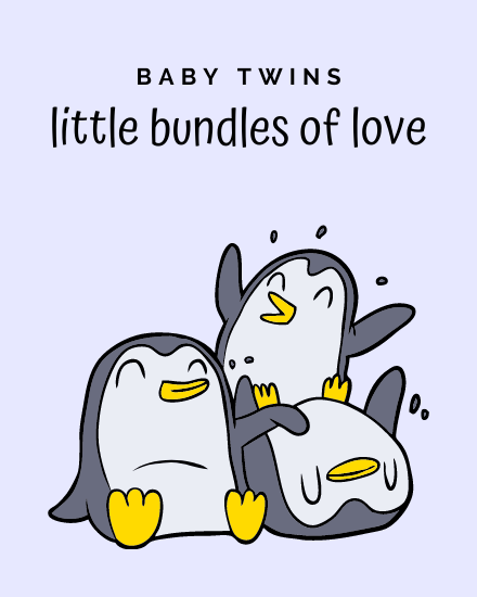 create free Baby Twins group card