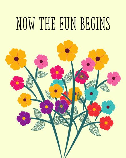 create free Fun Begins group card