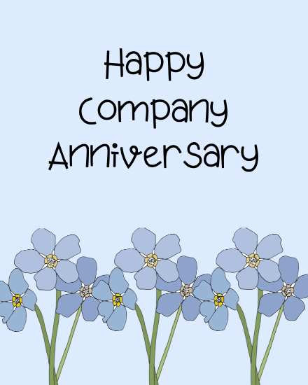 create free Happy Company Anniversary group card