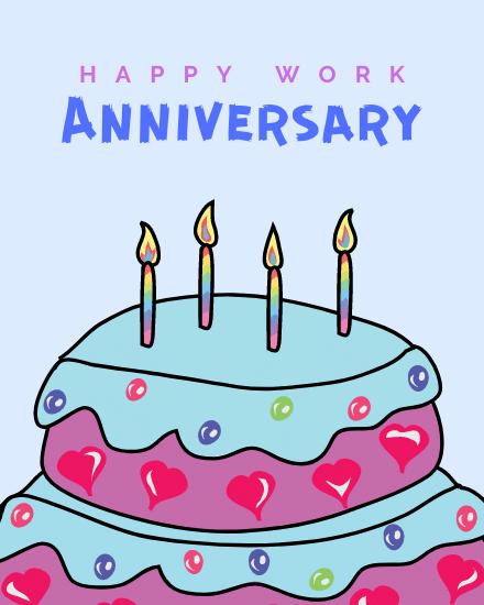 create free Happy Work Anniversary group card