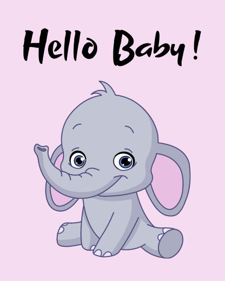 create free Hello Baby group card