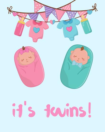 create free  Twins group card