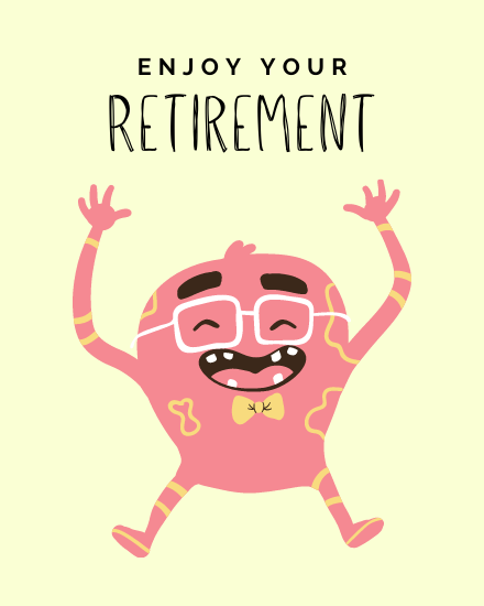 create free Enjoy your Retirement  group card