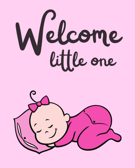 create free Welcome Little one group card