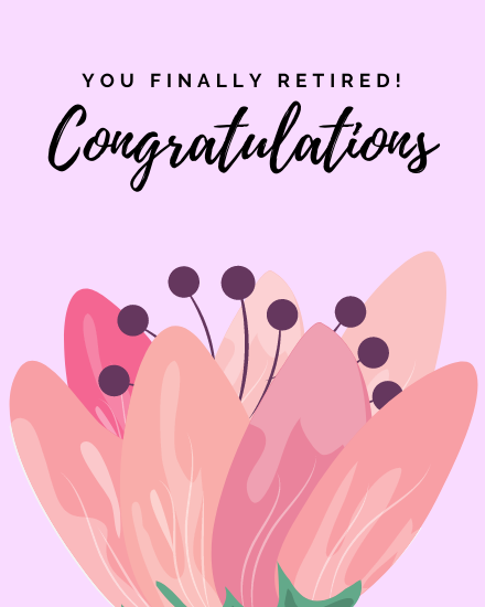 create free Finally Retired group card