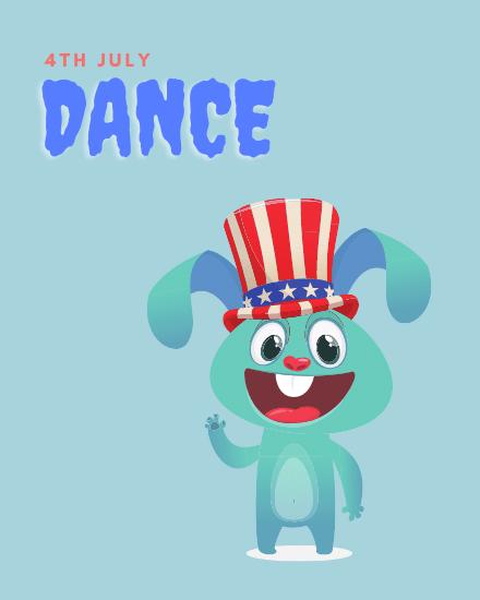 create free 4th July Dance group card