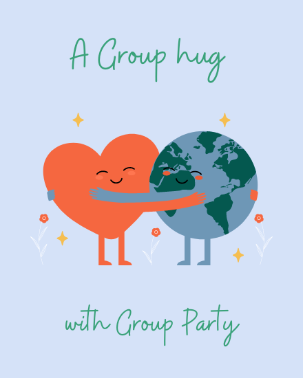 create free Group party group card