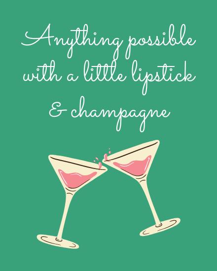 create free champagne group card