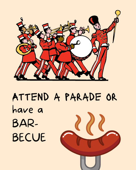 create free Attend a Parade group card