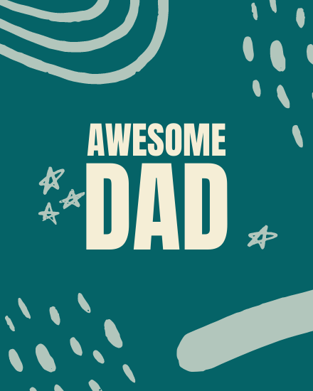 create free Awesome Dad group card