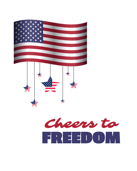 create free Cheers to freedom group card