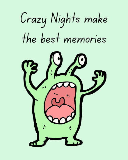 create free Crazy Nights group card